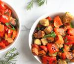 Spicy Tempeh, Red Pepper and Sweet Potato Hash Recipe