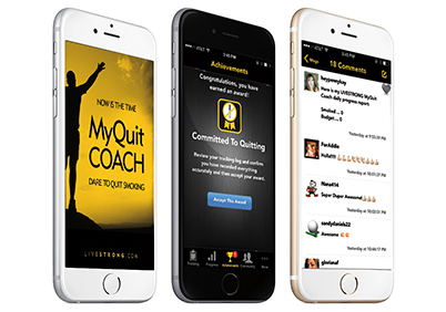 MyQuit Coach Screen Shots on iOS.